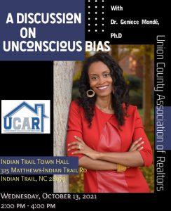 A Discussion on Unconscious Bias event flyer